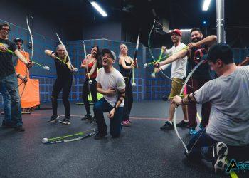 adult archery tag birthday party